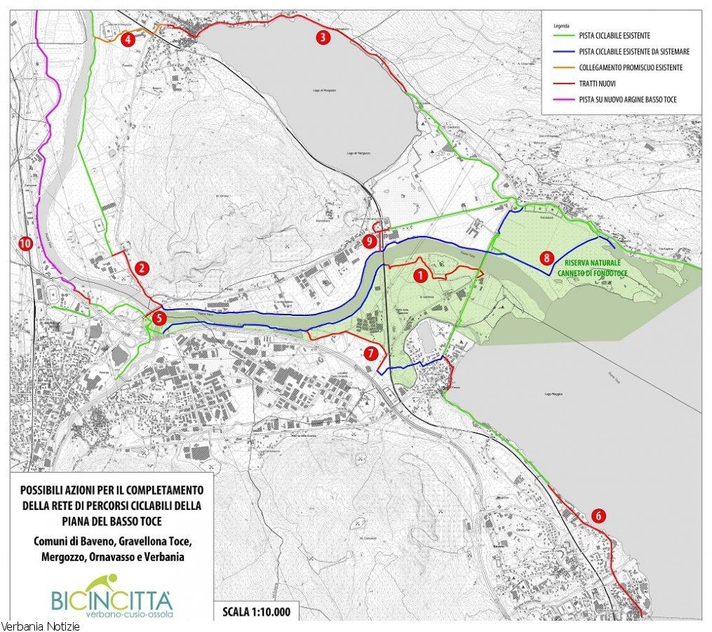 Cartina Piste Ciclabili Olanda.La Pista Ciclabile Del Lago Maggiore